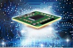 CPU e potere digitale Immagini Stock Libere da Diritti