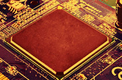 CPU Electronic Circuit Royalty Free Stock Image