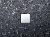 CPU en placa de circuito imagen de archivo libre de regalías
