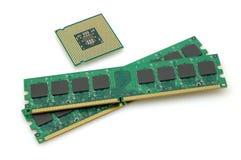 CPU et mémoires vives image libre de droits