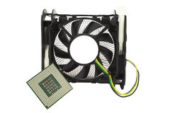 Cpu and fan Royalty Free Stock Photo
