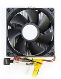 CPU fan with aluminum radiator Royalty Free Stock Photo