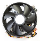 CPU fan with aluminum radiator Stock Photo