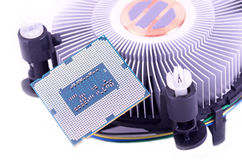 Cpu and fan Stock Photo