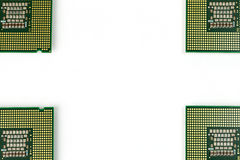 CPU on four corners Royalty Free Stock Photo