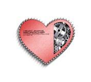 CPU. Gears inside heart processor. 3d Stock Image