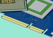 CPU and GPU are on the videocard. Royalty Free Stock Image