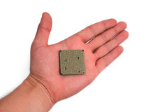 Cpu in hand Stock Image