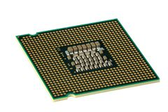 CPU, hyper DoF. Computer accessories, modern central processor, isolated,  turned, hyper DoF Stock Image