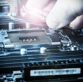 CPU i hand Royaltyfri Bild