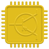 CPU icon. For various design Stock Photography