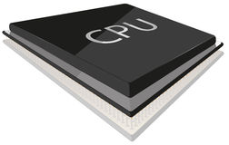 CPU illustration. Isolated with reflection eps 10 royalty free illustration