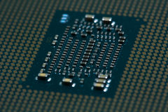 CPU interface - contacts - back side Stock Images