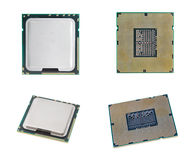 CPU isolated  set on white background with out sha Royalty Free Stock Photo