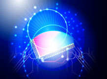 CPU Lighting effects Royalty Free Stock Image
