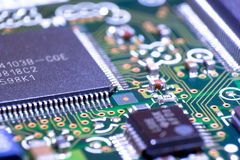 Cpu on mainboard Royalty Free Stock Images
