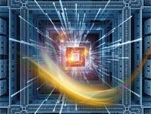 CPU metafórica Foto de archivo libre de regalías