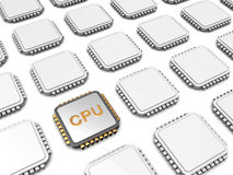Cpu-microchip Royalty-vrije Stock Afbeeldingen
