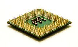 CPU microprocessor isolated on white Stock Photos