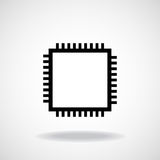 Cpu. Microprocessor. Microchip. Cpu. Microprocessor Microchip Vector illustration Eps 10 Royalty Free Stock Image