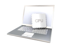 CPU mobile Photographie stock libre de droits