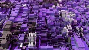 CPU moderno astratto 4K Data mining, concetto d'apprendimento profondo di AI archivi video