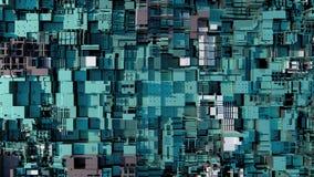 CPU moderno astratto 4K Data mining, concetto d'apprendimento profondo di AI illustrazione di stock