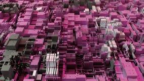 CPU moderno astratto 4K Data mining, concetto d'apprendimento profondo di AI illustrazione vettoriale