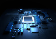 CPU and Motherboard Background Royalty Free Stock Image