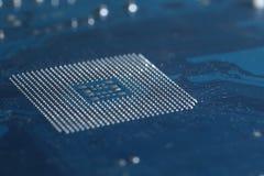 CPU Motherboard Chip socket solder balls Royalty Free Stock Image