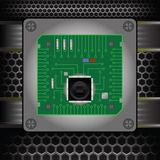 CPU on the motherboard Royalty Free Stock Images