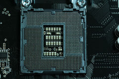 Cpu-motherboard contactdoos lga1151 Royalty-vrije Stock Afbeelding