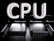 Cpu - (Multi-core) CPU Stock Afbeelding