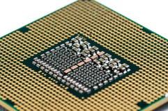 CPU multiconduttore moderno con priorità bassa bianca Fotografia Stock
