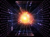 CPU numérica Imagen de archivo