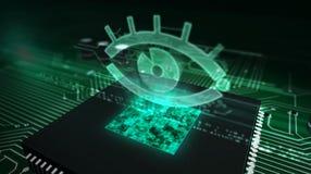 CPU ombord med spion fotografering för bildbyråer