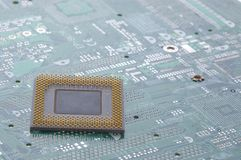 Cpu op motherboard Stock Foto's