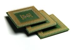 CPU in pila Fotografia Stock