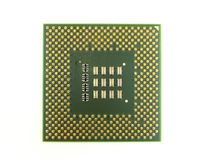 CPU Pin Side Up. Over white Royalty Free Stock Photos
