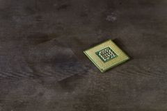 Cpu with pins up Royalty Free Stock Image