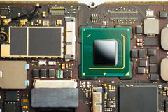 Cpu processor of an laptop royalty free stock photo