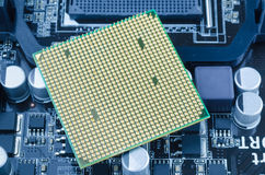 CPU processor. The main components of a computer motherboard Stock Images