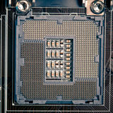 Cpu processor socket pins on motherboard Stock Photography