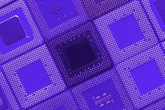 CPU processors. A background design of blue cpu processors Stock Photography