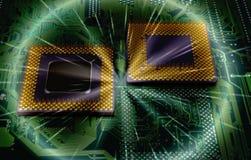 Modern cpu processors. Close up of cpu processors stock images