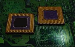 Modern cpu processors. Close up of cpu processors stock photos