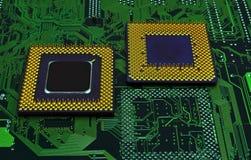 Modern cpu processors. Close up of cpu processors stock photo