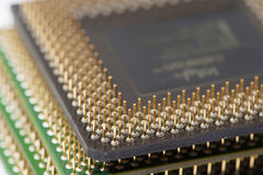 CPU processors (stack) Royalty Free Stock Image