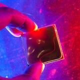 CPU RAM teknologi av detelektroniska begreppet Teknologi arthouse, överhettning av den centrala processorn CPU som kyler med vatt arkivbilder
