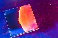CPU RAM teknologi av detelektroniska begreppet Teknologi arthouse, överhettning av den centrala processorn CPU som kyler med vatt royaltyfri foto